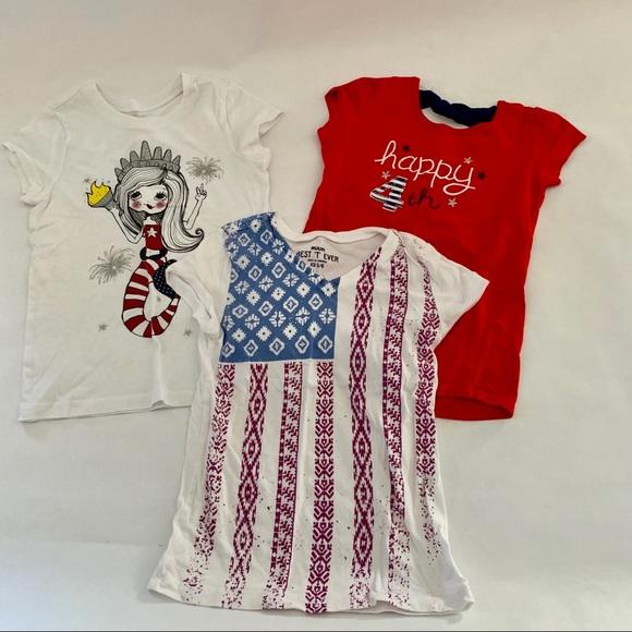 95e40668 Children's Place Shirts & Tops | 3 Redwhiteblue Shirts | Poshmark